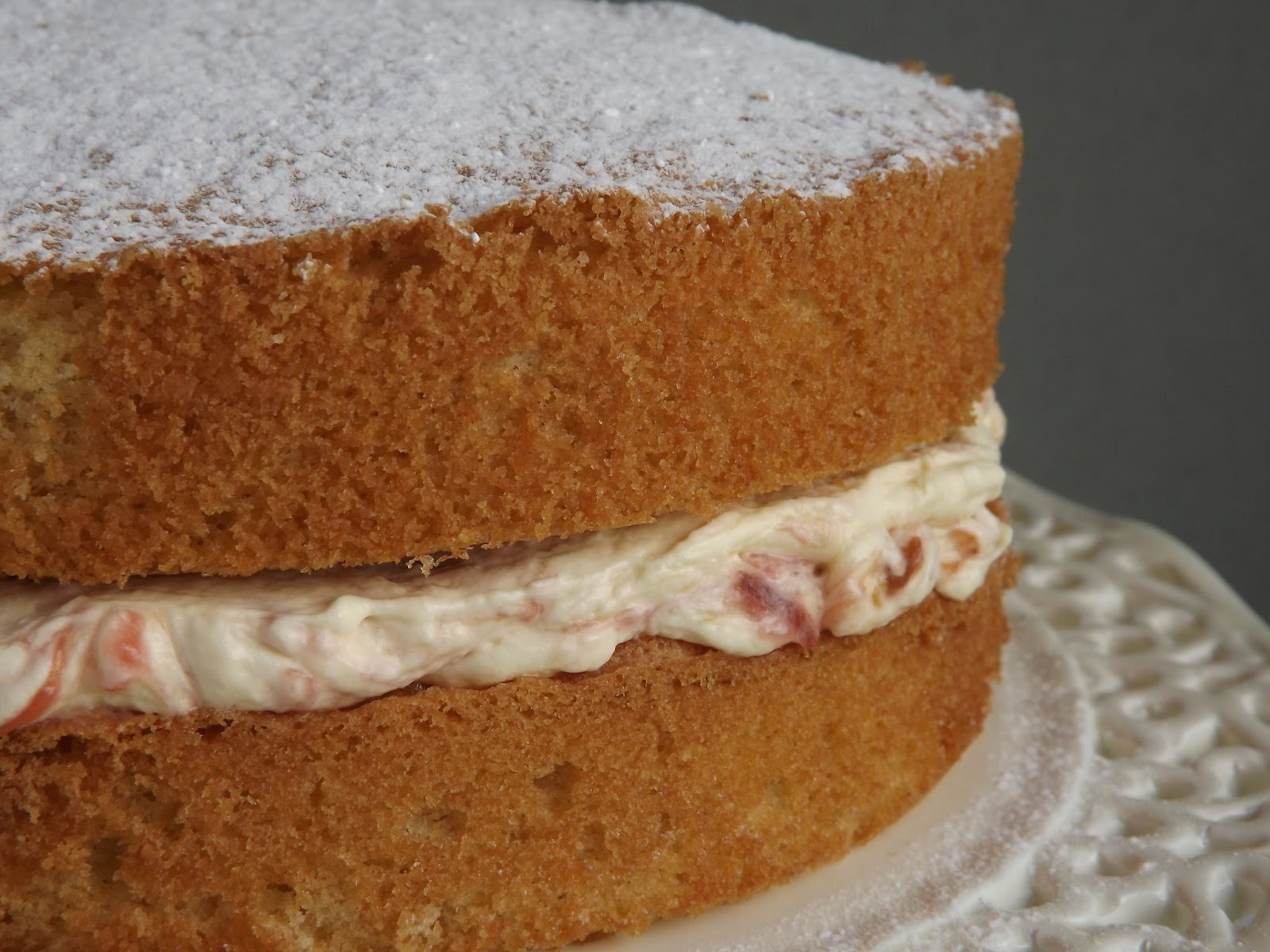 Fold in the Flour: Classic Victoria Sponge with Rhubarb and Custard