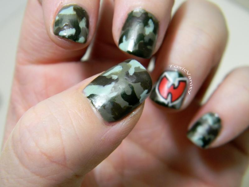 Hip Hop Nails #4: Wu Tang & Camo nails - Toxic Vanity