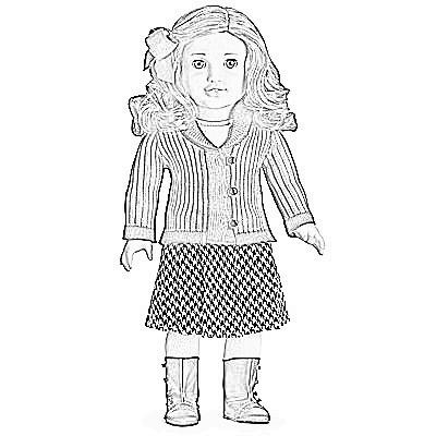 girlcoloringpagesjulie american girl dolls mckenna american girl