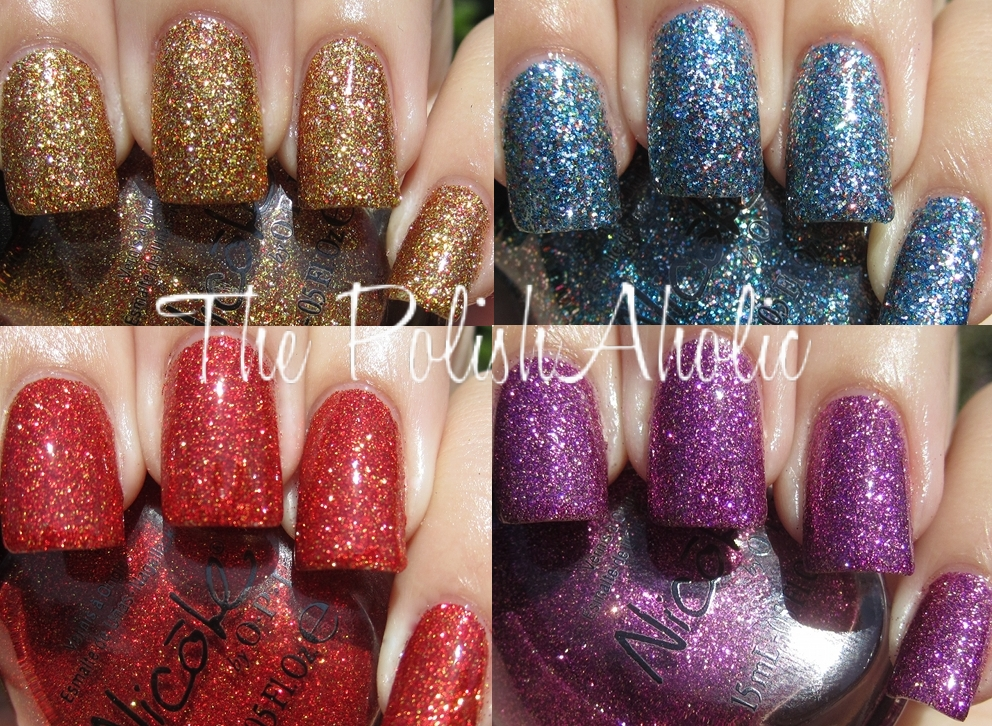 The PolishAholic: Nicole by OPI Holiday Glitters Swatches!