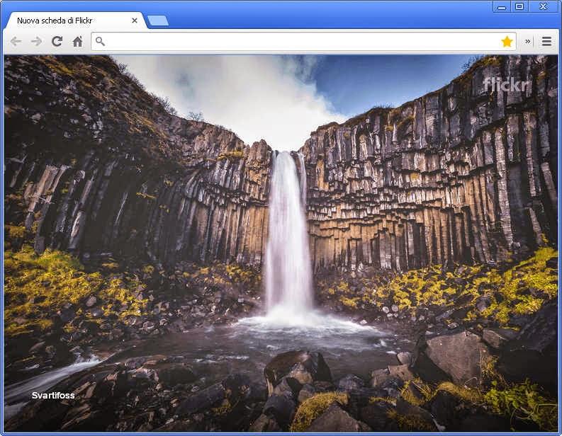 Nuova scheda Flickr Google Chrome