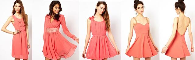 vestidos cortos coral
