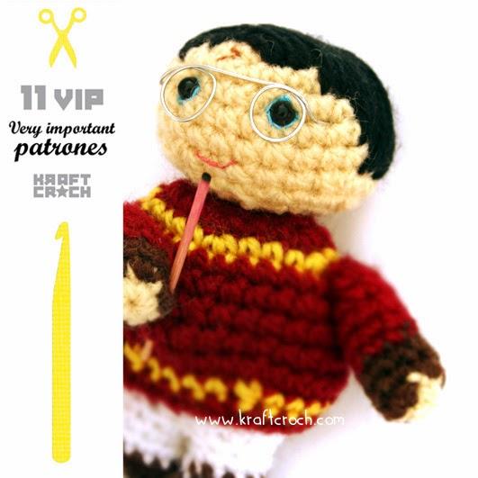 Patrones Amigurumi Harry Potter : kraftcroch: Proximo patron gratuito: Tu Amigurumi VIP favorito