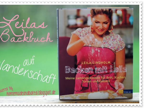 Karamellkuchen mit Pekannüssen und Haferflockenboden - Leilas Backbuch auf Wanderschaft