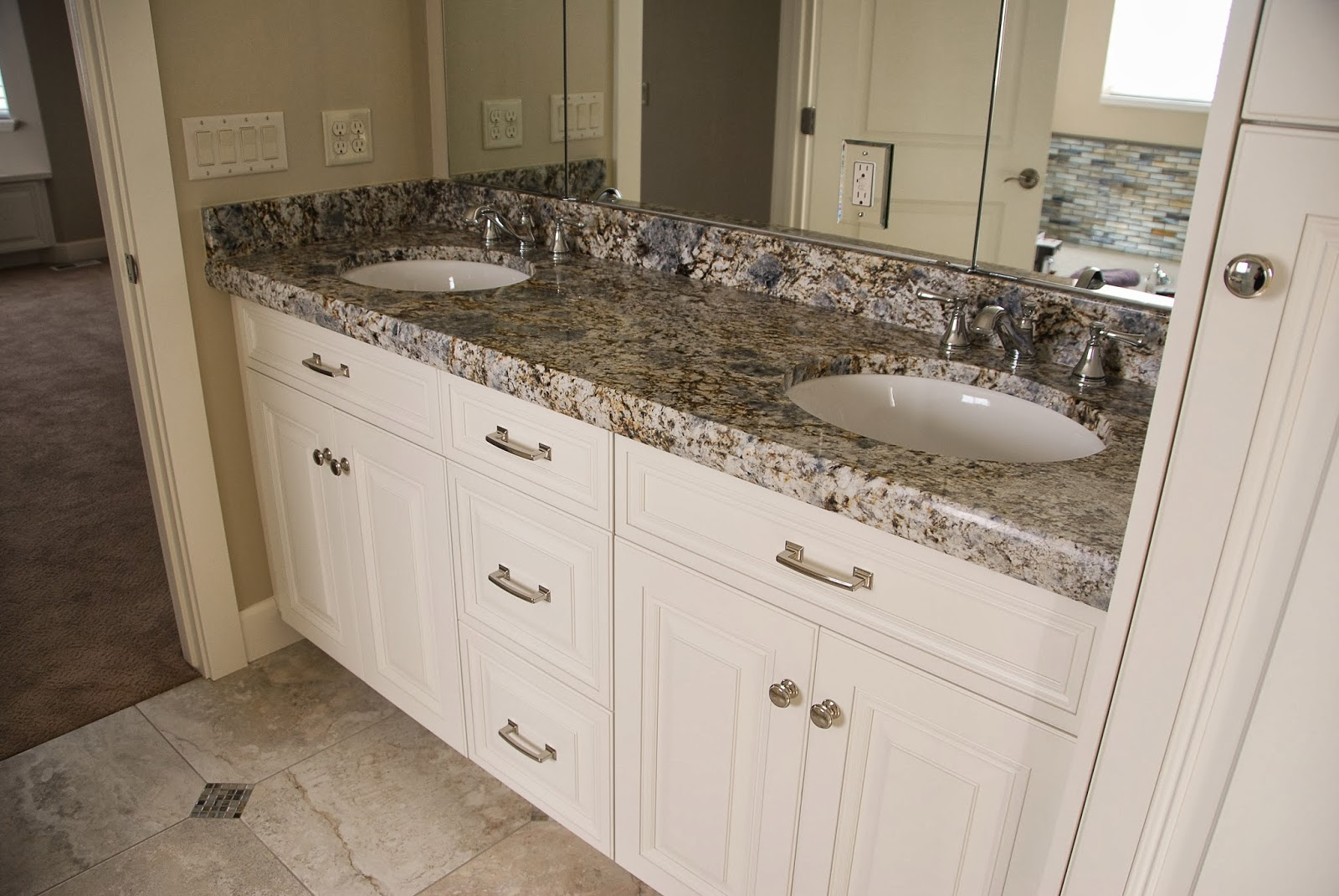 Blue Flower Granite Master Bath U0026 Laundry From MGS By Design