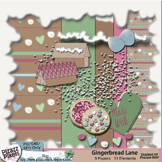 "Wilma4EverBlog Train for December, ""Gingerbread Lane"" Mini Kit Freebie from Pizazz Pixels"