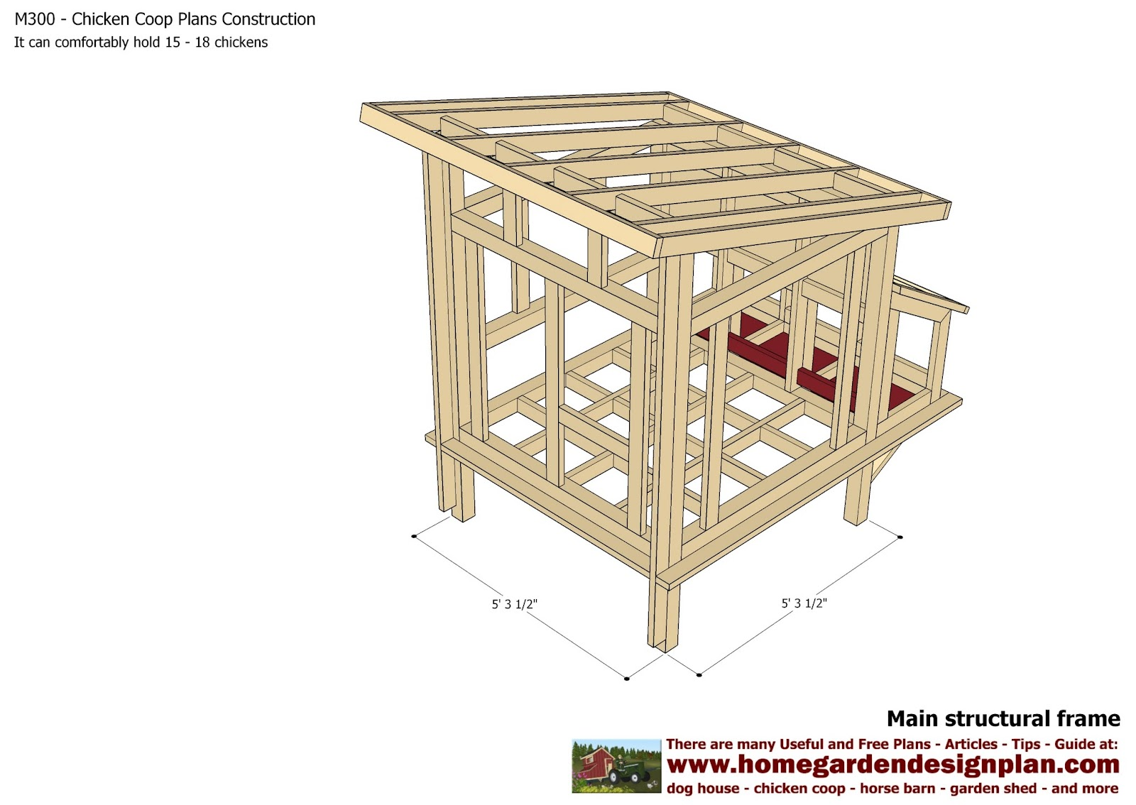 Home garden plans m300 chicken coop plans chicken for How to build a chicken hutch