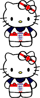 Hello Kitty England Football Soccer Uniform