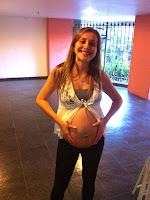 Celina, com 37 semanas de getsação