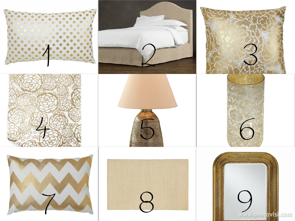 Peaceful Home Decor Gold Bedroom Decor