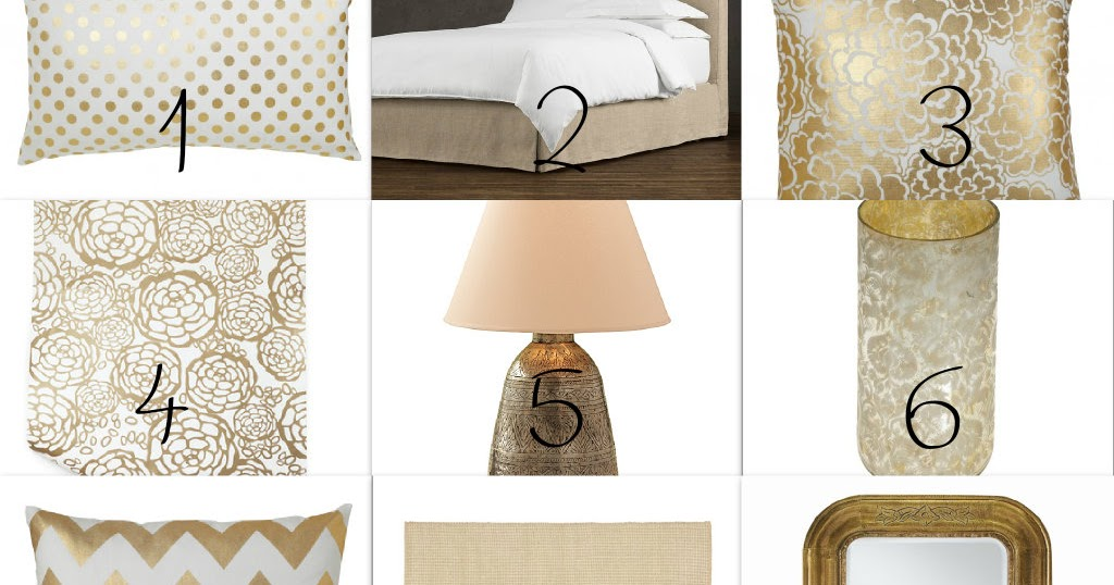 Peaceful Home Decor: Gold Bedroom Decor
