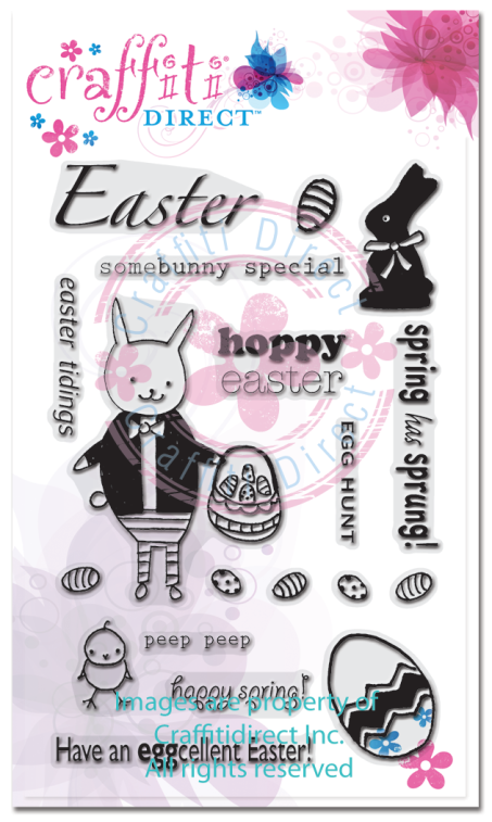 Easter Bunny Fun Clear Stamp Set