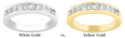 White Gold versus Yellow Gold