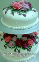 2 tiers soft fondant cake