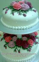 2 tiers soft fondant cake