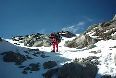 entrando al glaciar de jamapa