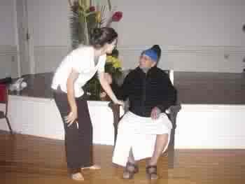 Daniela with Sri. Pattabhi Jois (Astanga Yoga workshop in San Francisco, 2006)