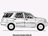 Halaman Mewarnai Gambar Mobil Toyota Sequoia Untuk Anak-Anak