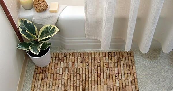 Linda alfombra con corchos manualidades de reciclaje un mundo de manualidades - Alfombra de corchos ...