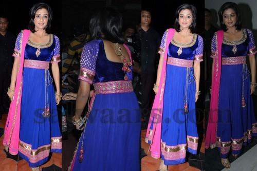 Priyamani Back Neck Velvet Salwar