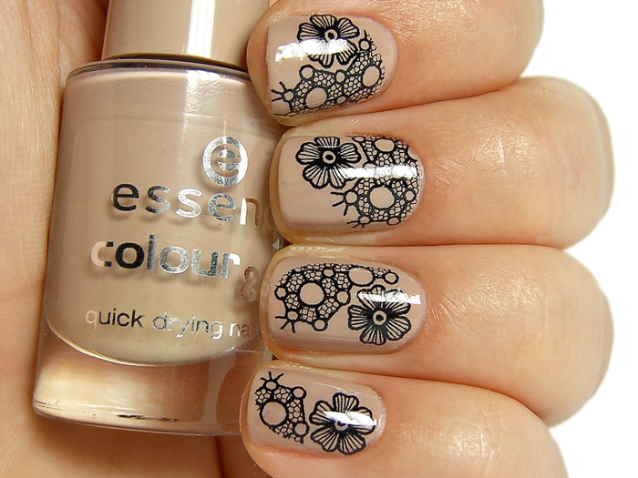 Born Pretty Store Lace Flowers Water Nail Decals