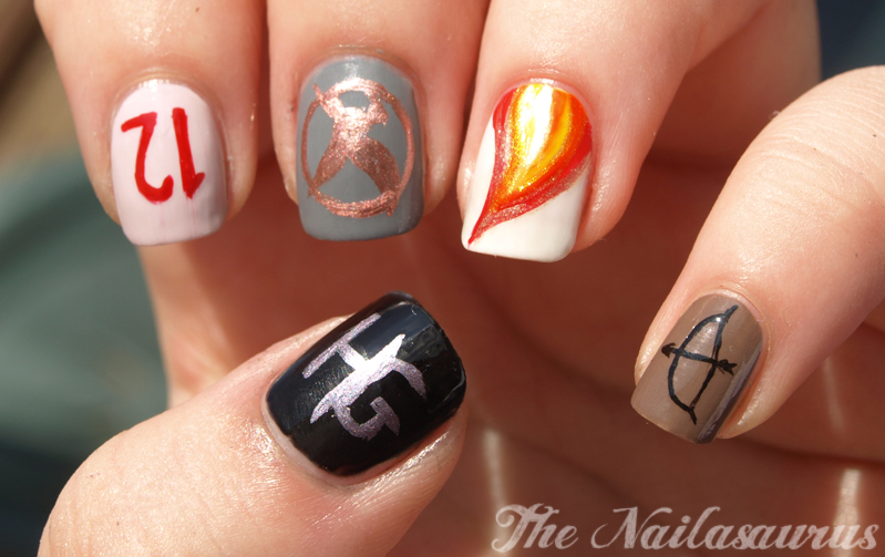 May the Odds be Ever in Your Favour (The Hunger Games Nail Art ...