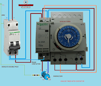 contactor reloj analogico 2polos maniobra con pequeño motor