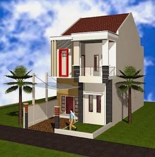 Desain Rumah Minimalis 2 Lantai Type 55