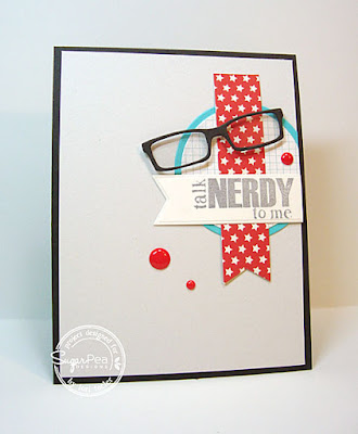 Talk Nerdy to Me card-designed by Lori Tecler/Inking Aloud-stamps from SugarPea Designs