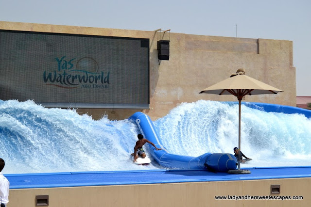 Surfing rides at Yas Waterworld