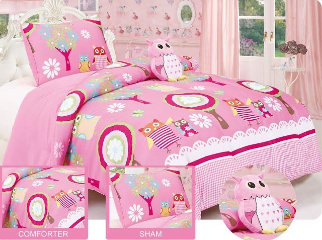 Owl Comforter Set -Sham-Plus Owl Pillow