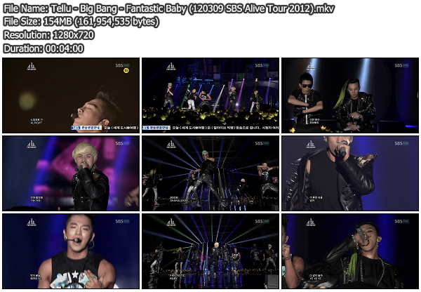 [Perf] Big Bang   Fantastic Baby @ SBS Alive Tour 2012 120309