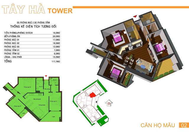 Căn số 2 chung cư Tây Hà Tower