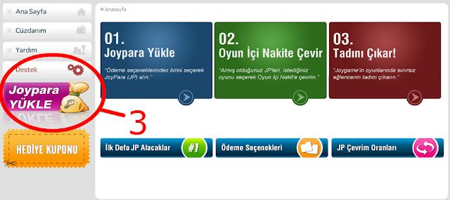 3   Bedava JoyPara Kazan (Nakit)