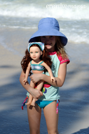 "Turn dollar store panties into a bikini for 18"" Doll - Free Pattern for American Girl, Our Generation, Journey Girl"
