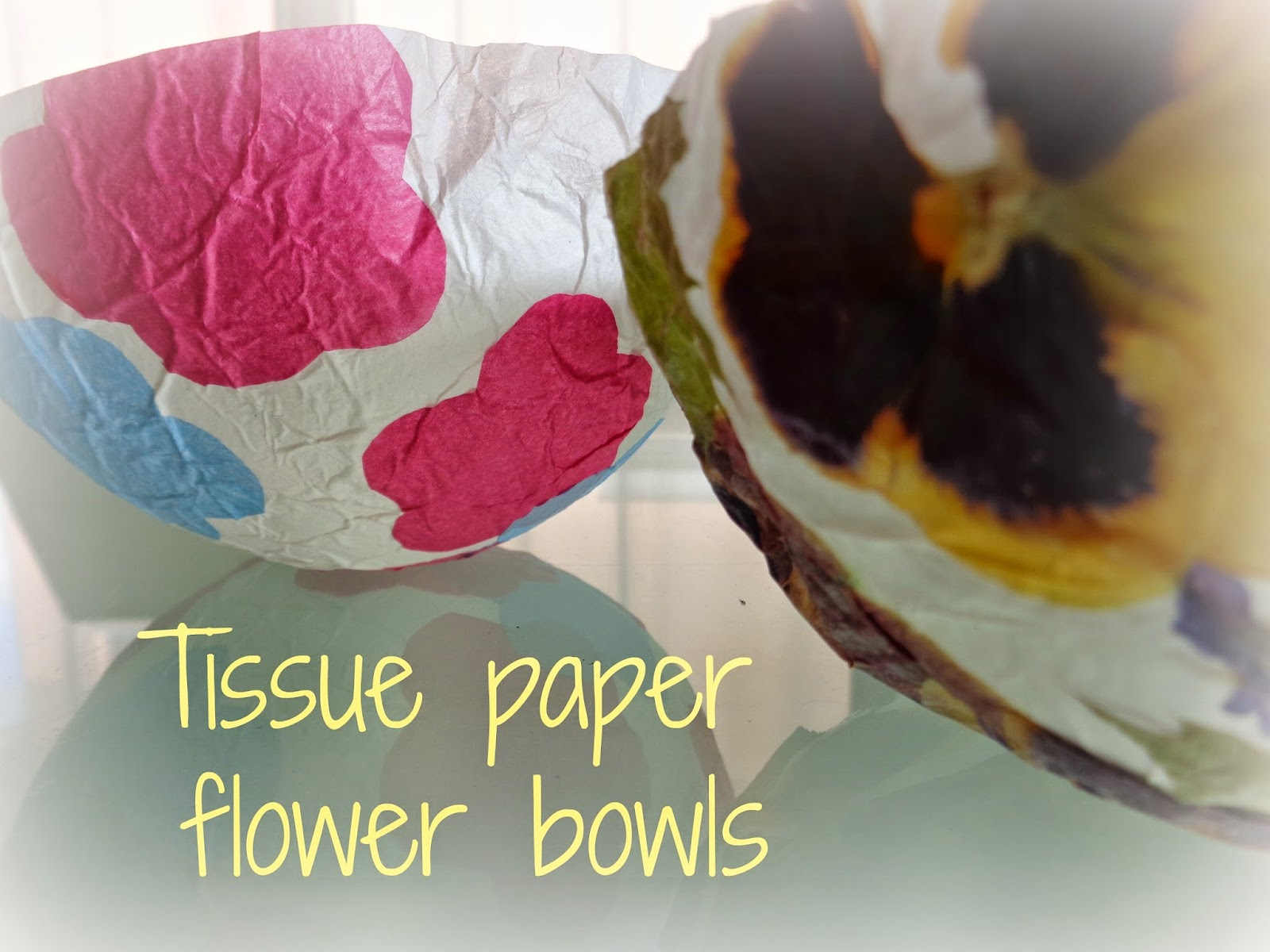 Mothers Messy Madness Tissue Paper Flower Bowls