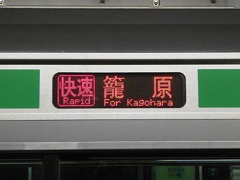 湘南新宿ライン 快速 籠原行き E231系・E233系(表示切替ミス)