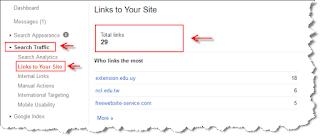 Cara melihat jumlah backlink menggunakan google webmaster tool