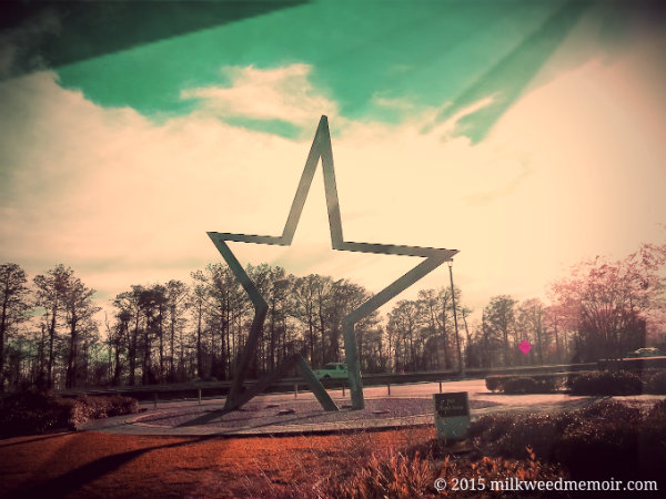 Lone Star Sculpture at Welcome Center / Rest Area, Orange, Texas is a bit Soviet ...