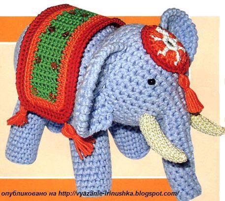 Вязанный слоник схема