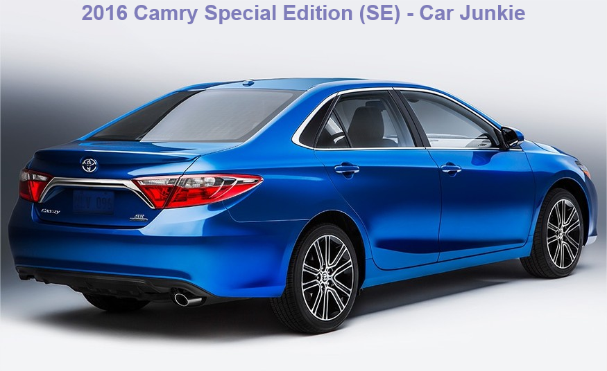 2016 toyota camry special edition price camry se car junkie. Black Bedroom Furniture Sets. Home Design Ideas