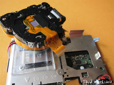 disassemble canon camera s770is lens