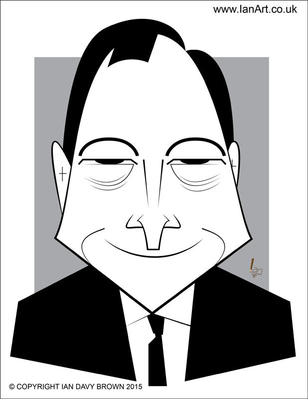 ECB President Mario Draghi caricature