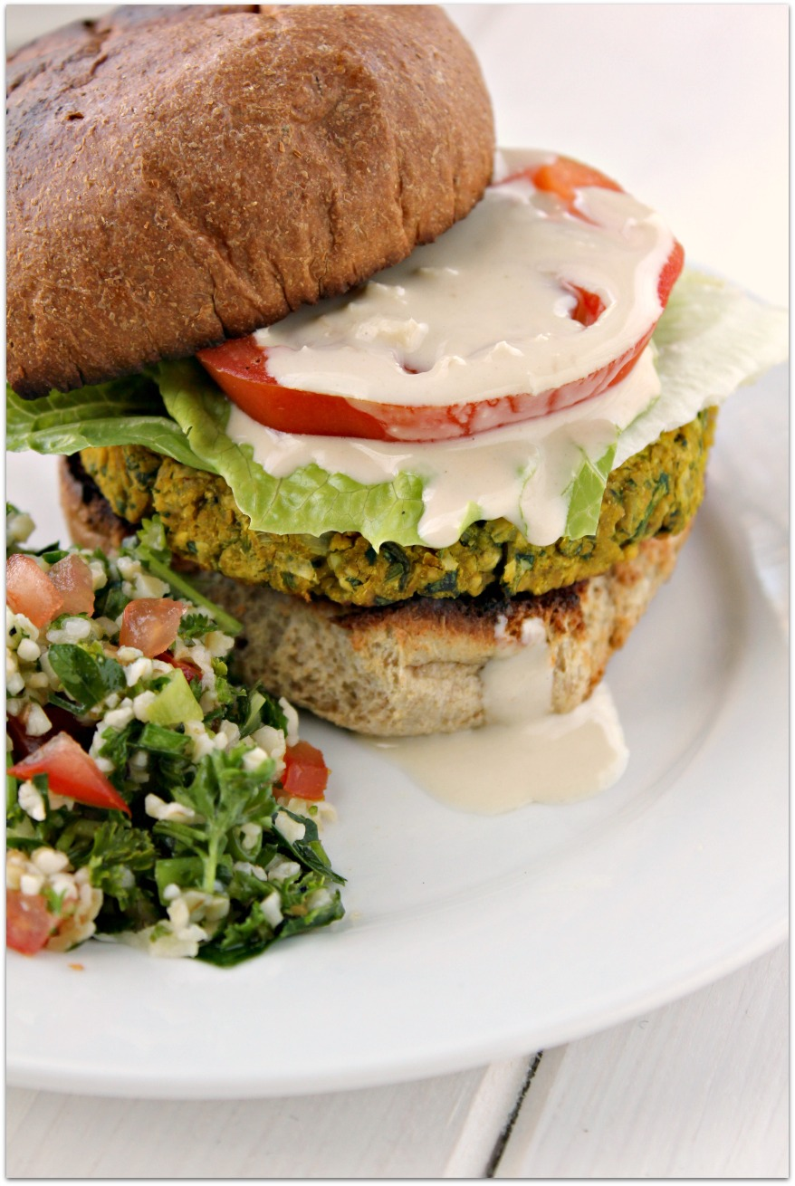 Falafel Burgers Recipe — Dishmaps