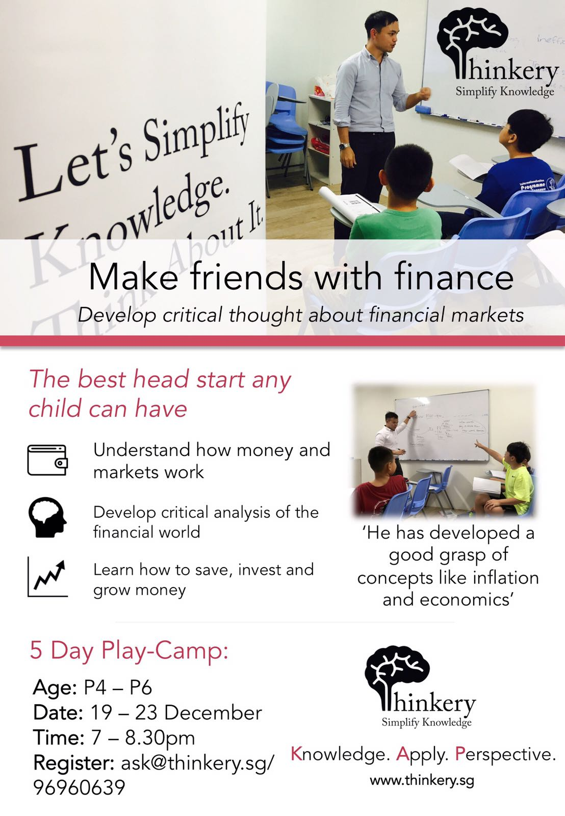 Financial Play Camp for P4 - P6