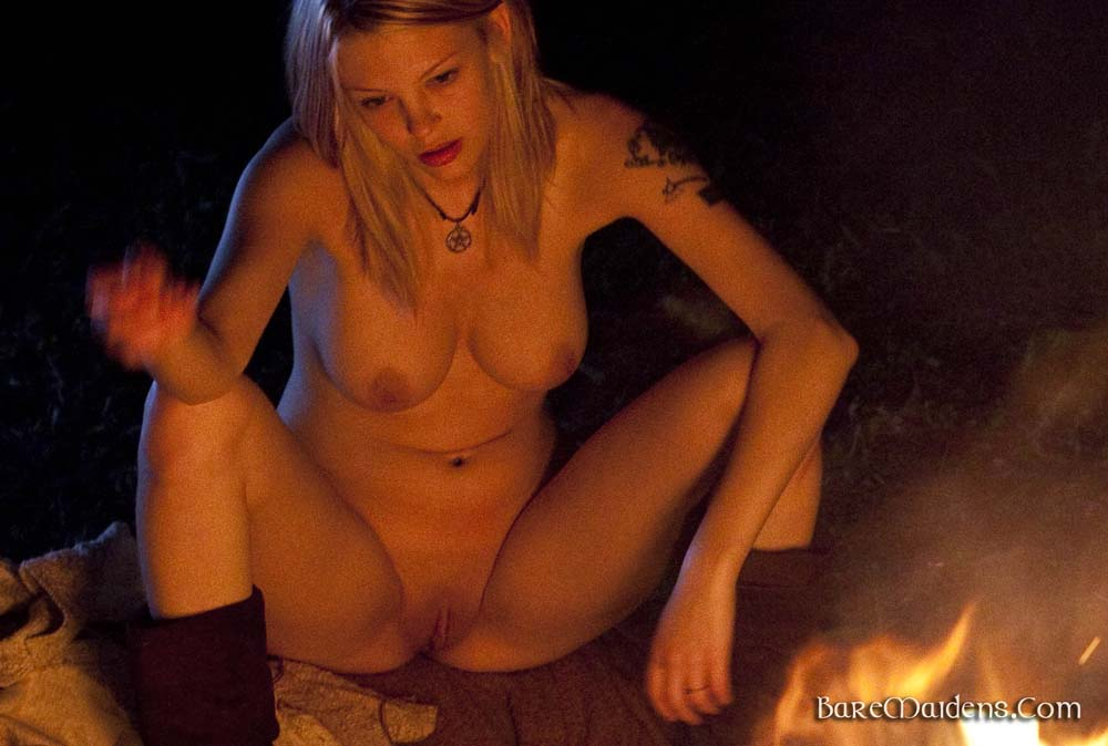 naked girls at campfires
