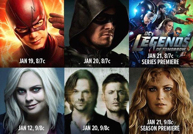 Даты выхода сериалов CW после нового года 2016