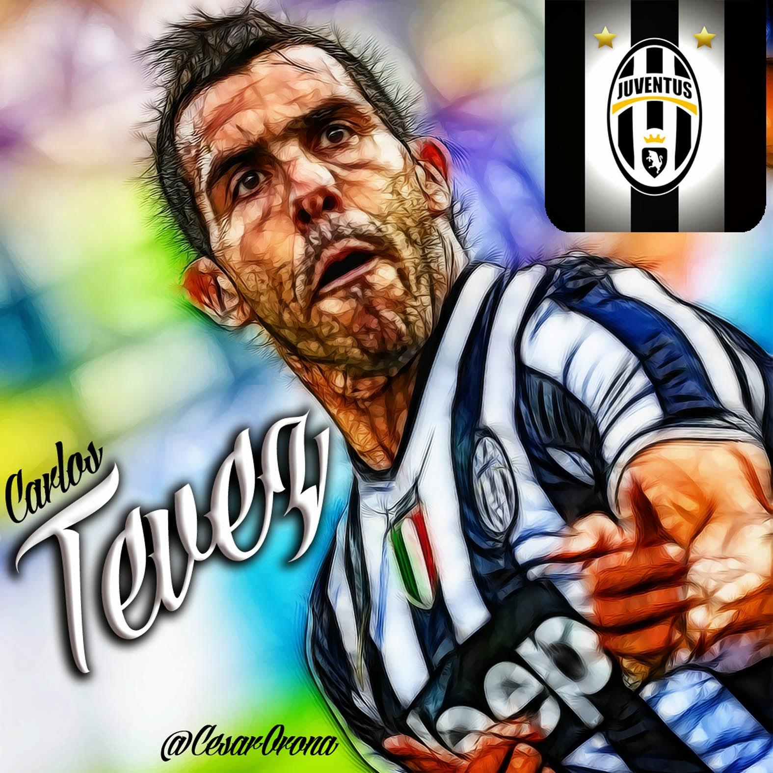 Cesar Orona Caricaturas Futbol y Más...: Carlos Tevez Juventus Carlos Tevez Juventus