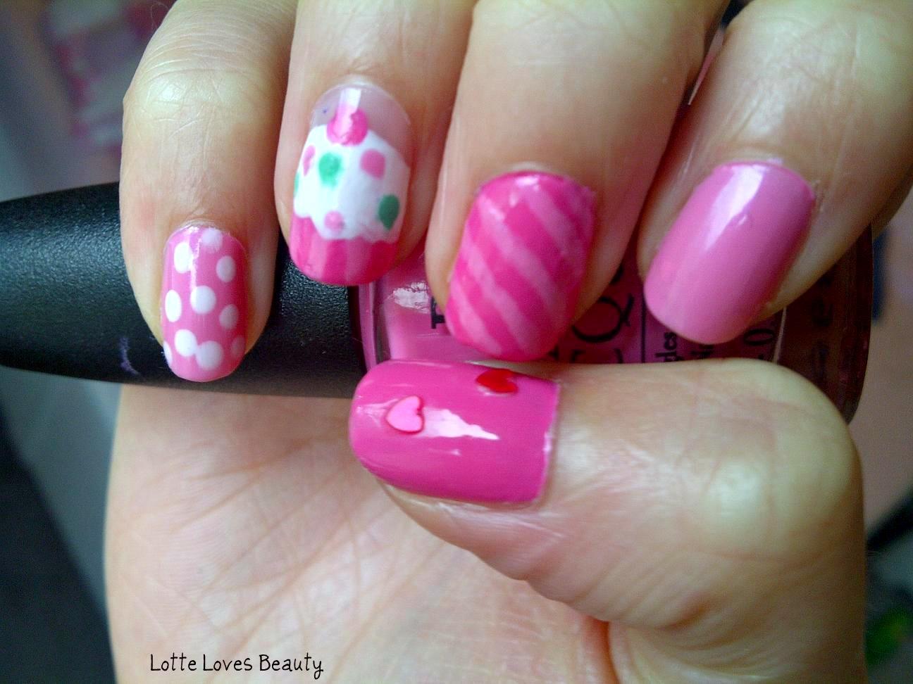 Notd Pink Nail Art Lotte Loves Beauty