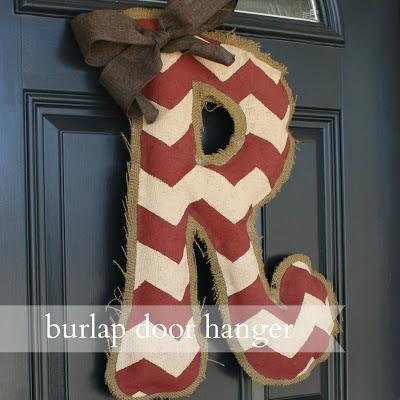 live a little wilder burlap door hanger tutorial